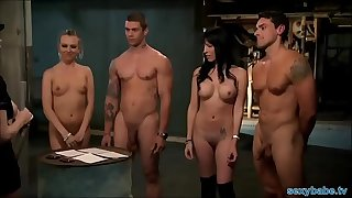 Playboy chicks fucked hard in jail cage