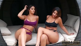 Indian Twins Strip Desire Boobs Pussy Play