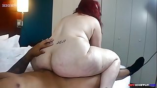 Big butt granny takes black cock up her ass