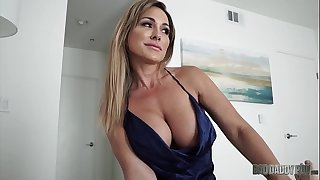 Hot Mother Aubrey Black Screws Husband While Role Playing His Step Daughter