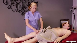 Blonde woman cock treatment