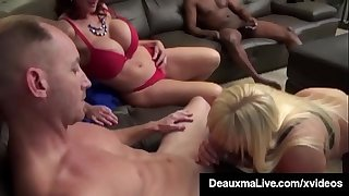 Busty Mothers Deauxma & Alexis Golden - Broads Foursome