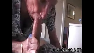 Grandmas Roommate Getting Fed Cum - More at cuntcams.net
